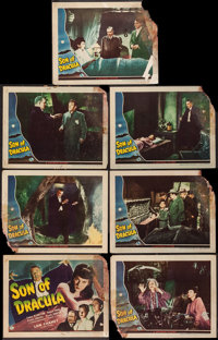 "Son of Dracula (Universal, 1943). Title Lobby Card & Lobby Cards (6) (11"" X 14""). Horror. ... (Total:..."