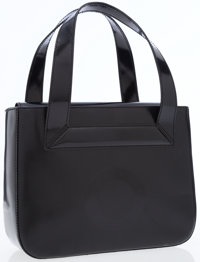 Celine Black Textured Plastic Tote Bag