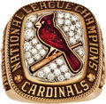 Baseball Collectibles:Others, 2004 St. Louis Cardinals National League Championship RingPresented to Stan Musial....