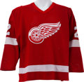 Hockey Collectibles:Uniforms, 1983-84 Brad Park Game Worn Detroit Red Wings Jersey....