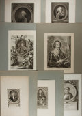 Art:Illustration Art - Mainstream, [Illustration]. Group of Seven Engraved Portraits. N.d. Measures19.5 x 13.5 inches including mat, loosely. Light toning. So...