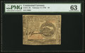 Colonial Notes:Continental Congress Issues, Continental Currency February 17, 1776 $4 PMG Choice Uncirculated 63.. ...