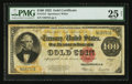 Large Size:Gold Certificates, Fr. 1215 $100 1922 Gold Certificate PMG Very Fine 25 Net.. ...