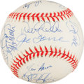 Baseball Collectibles:Balls, 1998 New York Yankees Team Signed Baseball (17 Signatures) - WorldChampionship Season....