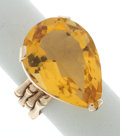Estate Jewelry:Rings, Synthetic Citrine, Gold Ring. ...