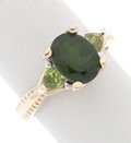 Estate Jewelry:Rings, Diopside, Peridot, Gold Ring. ...