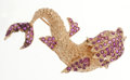Estate Jewelry:Brooches - Pins, Ruby, Gold Fish Brooch. ...