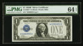 Small Size:Silver Certificates, Fr. 1602* $1 1928B Silver Certificate. PMG Choice Uncirculated 64 EPQ.. ...