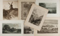 Art:Illustration Art - Mainstream, [Illustration]. Group of Seven Lithographs. Various dates. Minor tomoderate toning. Some trimmed. Creasing to some edges. L...
