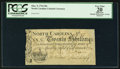 Colonial Notes:North Carolina, North Carolina March 9, 1754 20s PCGS Apparent Very Fine 20.. ...