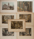 Art:Illustration Art - Mainstream, [Illustration]. Group of Seven Interior Prints. N. d Largestmeasures 15 X 11 inches, loosely. Mild to heavy toning. Some fo...