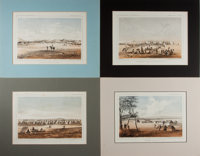 [Illustration]. Group of Four Matted Prints From the United States Pacific Rail Road Survey. N.d. Light toning. Ligh