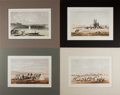 Art:Illustration Art - Mainstream, [Illustration]. Group of Four Matted Prints From the United StatesPacific Rail Road Survey. N.d. Light toning. Light, scat...