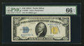 Small Size:World War II Emergency Notes, Fr. 2309* $10 1934A North Africa Silver Certificate. PMG GemUncirculated 66 EPQ.. ...