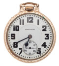 Timepieces:Pocket (post 1900), Hamilton 21 Jewel Model 992 Open Face Pocket Watch. ...