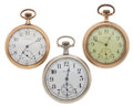 Timepieces:Pocket (post 1900), Two Waltham And One Elgin 12 Size Pocket Watches. ... (Total: 3Items)