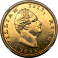 India: William IIII gold Restrike 2 Mohurs 1835-(C)