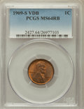 Lincoln Cents, 1909-S VDB 1C MS64 Red and Brown PCGS....