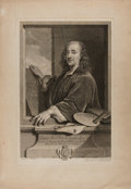 Art:Illustration Art - Mainstream, [Engraving]. Mathieu. Portrait of Louis de Boulongne le Pere. N.d.Measures 19.5 x 13.5 inches, loosely. Moderate toning. Mi...