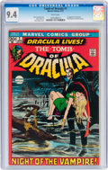 Bronze Age (1970-1979):Horror, Tomb of Dracula #1 (Marvel, 1972) CGC NM 9.4 White pages....