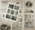 Art:Illustration Art - Mainstream, [Periodicals]. Group of Seven Avian Themed Sheets From TheIllustrated London News and The Illustrated Sport...