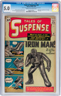 Silver Age (1956-1969):Superhero, Tales of Suspense #39 (Marvel, 1963) CGC VG/FN 5.0 Cream tooff-white pages....