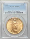 Saint-Gaudens Double Eagles: , 1910 $20 MS64 PCGS. PCGS Population (1149/166). NGC Census:(849/74). Mintage: 482,000. Numismedia Wsl. Price for problem f...