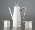 Silver Holloware, American:Coffee Pots, A THREE PIECE TIFFANY & CO. BAMBOO PATTERN SILVER COFFEESERVICE . Tiffany & Co., New York, New York, designed 1...(Total: 3 )