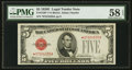 Small Size:Legal Tender Notes, Fr. 1530* $5 1928E Legal Tender Star Note. PMG Choice About Unc 58 EPQ.. ...