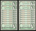 Canadian Currency: , BC-37b-i $1 1954 Fifty Consecutive Examples. ... (Total: 50 notes)