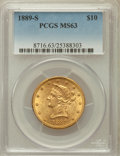 Liberty Eagles, 1889-S $10 MS63 PCGS....