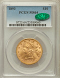 Liberty Eagles: , 1893 $10 MS64 PCGS. CAC. PCGS Population (226/4). NGC Census: (717/25). Mintage: 1,840,895. Numismedia Wsl. Price for probl...