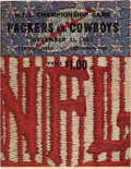 Football Collectibles:Programs, 1967 NFL Championship Game Packers vs. Cowboys Program - Known asthe Ice Bowl. ...