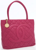 Luxury Accessories:Bags, Chanel Raspberry Caviar Leather Medallion Tote Bag with GoldHardware. ...