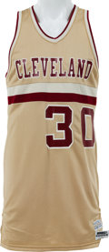 Basketball Collectibles:Uniforms, 1982-83 Dave Magley Game Worn Cleveland Cavaliers Jersey &Shorts. ...