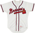 Baseball Collectibles:Uniforms, 1987 Ozzie Virgil Game Worn Atlanta Braves Jersey. ...
