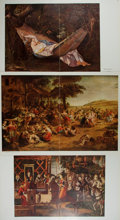 Art:Illustration Art - Mainstream, [Illustration]. Group of Three Chromolithographic Illustrations.N.d. Includes works from Ruebens and Courbet. Major cre...