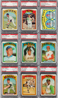 Baseball Cards:Lots, 1972 Topps Baseball PSA Gem MT 10 Collection (9). ...