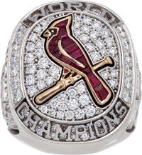 2011 St. Louis Cardinals World Championship Ring Presented to Stan Musial