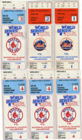 Baseball Collectibles:Tickets, 1986 World Series Ticket Stubs Lot of 6. The 1986 World Series sawan epic battle between the New York Mets and the Boston ...