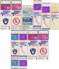 Baseball Collectibles:Tickets, 1982 Postseason and All-Star Ticket Stubs Lot of 10. Group oftickets and stubs from the 1982 postseason and All-Star Game,...