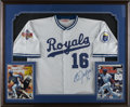 Autographs:Jerseys, Bo Jackson Signed Jersey Display. The amazing physical specimen BoJackson is the subject of the attractive display that we...