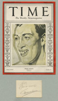 Boxing Collectibles:Autographs, Primo Carnera Cut Signature Display. The imposing Italian pugilistPrimo Carnera simply dwarfed many of his opponents, crea...