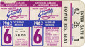 Baseball Collectibles:Tickets, 1962 World Series Ticket Stub. 1962 World Series featured the NewYork Yankees against the San Francisco Giants. This close...