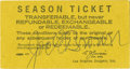 Autographs:Others, 1966 Joe E. Brown Signed Ticket Stub. The famous comic Joe E. Brownprobably was among the audience on the 1966 day that th...