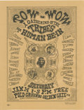 "Music Memorabilia:Posters, Pow-Wow San Francisco Handbill (1967). ""A Gathering of the Tribesfor a Human Be-In,"" from January 14, 1969. Measures 8.5"" x...(Total: 1 Item)"