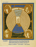 Music Memorabilia:Posters, Doors Berkeley Community Theater Handbill (1967). October 15, 1967. Also featuring KMEX's Tom Donahue and Notes from the Und... (Total: 1 Item)