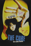 "Music Memorabilia:Autographs and Signed Items, The Cure Autographed Limited Edition Poster. A framed 20"" x 30""promo poster for their 1996 album ""Wild Mood Swings"", signed...(Total: 1 Item)"