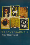 "Music Memorabilia:Autographs and Signed Items, Tracy Chapman ""New Beginning"" Signed Promo Poster (1995).Singer-songwriter Tracy Chapman's confessional style was wellsho... (Total: 1 Item)"