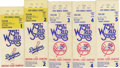 Baseball Collectibles:Tickets, 1978 World Series Ticket Stubs Lot of 5. The 1978 World Seriespitted the Los Angeles Dodgers against the New York Yankees,...